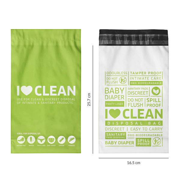 Sirona I love clean Bags – India's First Biodegradable Sanitary Disposal Bag - Pack of 2