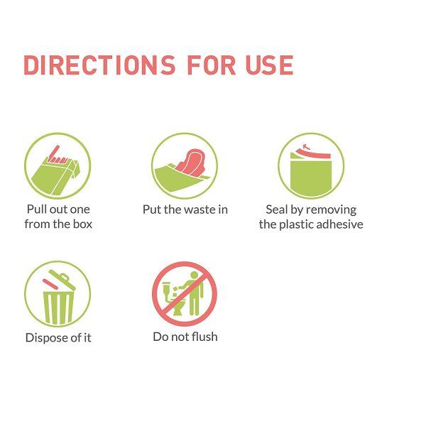 Sirona I love clean Bags – India's First Biodegradable Sanitary Disposal Bag