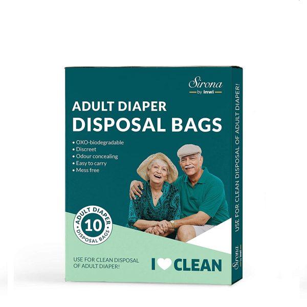 Sirona Adult Diaper Disposal Bags - 10 Bags