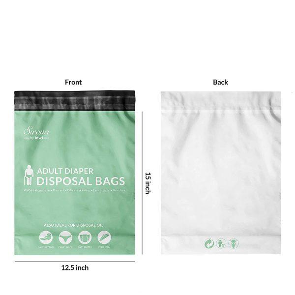 Sirona Adult Diaper Disposal Bags - 10 Bags, Pack of 2