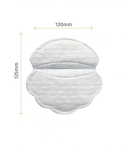 Pee Safe Disposable Underarm Sweat Pads (Folded)