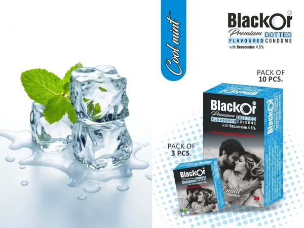 BlackOr Premium Dotted Flavoured Condoms
