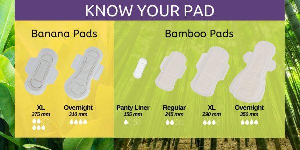Saathi (4REG + 4XL+ 4ON) Bamboo Fibre Biodegradable Sanitary Pads