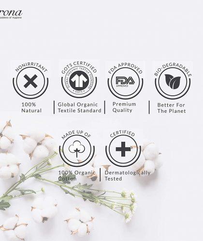 Sirona Organic Tampons Made With 100% Organic Cotton – 18 Pcs