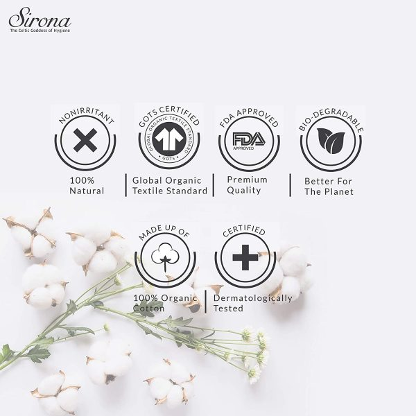 Sirona Organic Tampons Made With 100% Organic Cotton – 18 Pcs