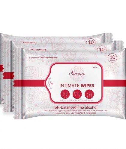 Sirona Intimate Wet Wipes – PH Balanced wipes for Intimate areas - Pack of 3