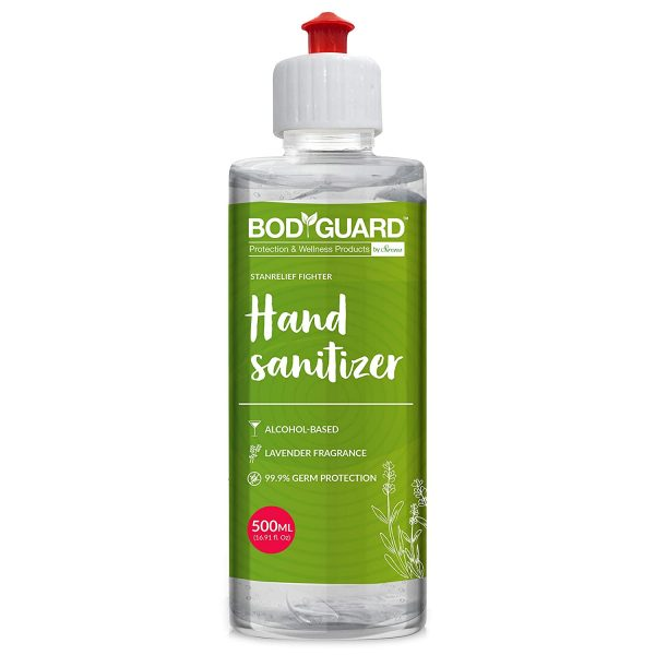 BodyGuard Alcohol Based Hand Sanitizer with Lavender Fragrance - 500 ml