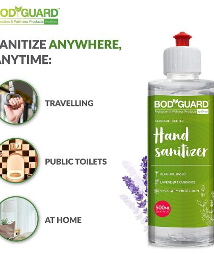 BodyGuard Alcohol Based Hand Sanitizer with Lavender Fragrance - 500 ml