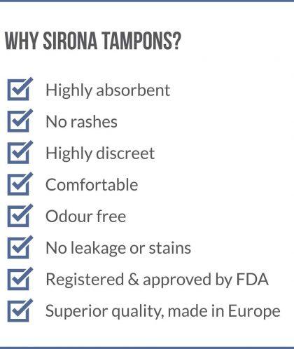 Sirona Applicator Tampons