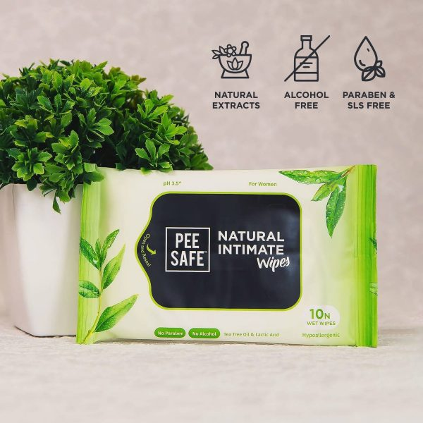 Pee Safe Natural Intimate Wipes