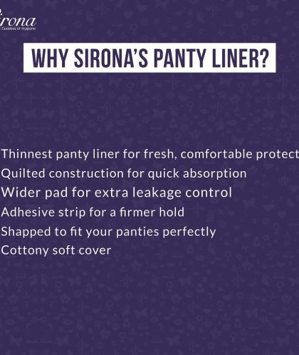 Sirona Anti Bacterial Ultra Thin Panty Liners Small - 30 Liners