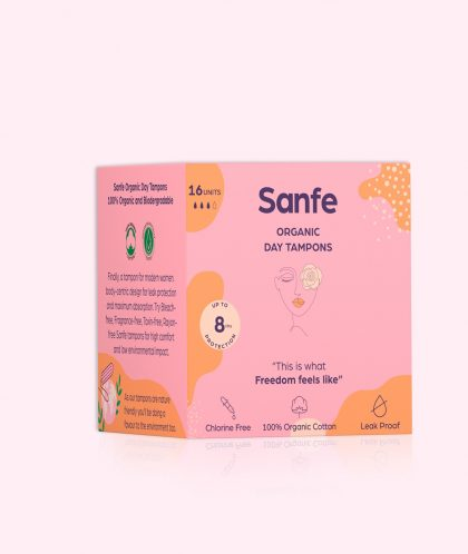 100% Organic Cotton Tampons - Day Tampons