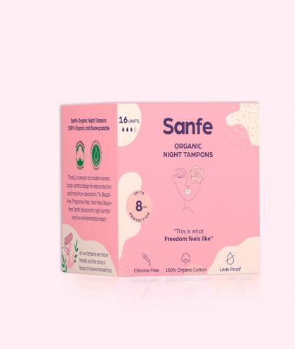 100% Organic Cotton Tampons - Night Tampons