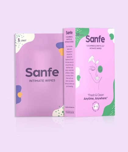 Sanfe Natural Intimate Wipes