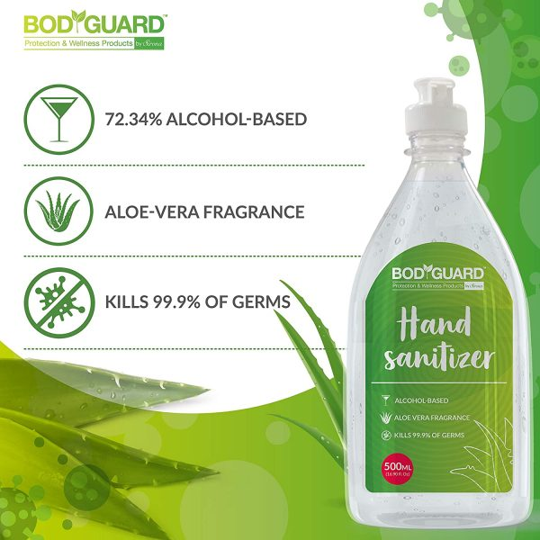 BodyGuard Alcohol Based Hand Sanitizer with Aloe Vera - 500 ml
