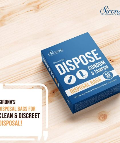 Sirona Biodegradable Bags for Disposal of Tampons and Condoms