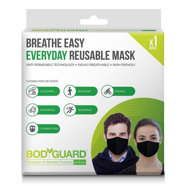 BodyGuard Breathe Easy Everyday Reusable Anti Pollution Mask – 1 Unit