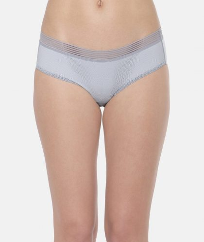 Triumph Women Grey Solid Hipster Briefs - L