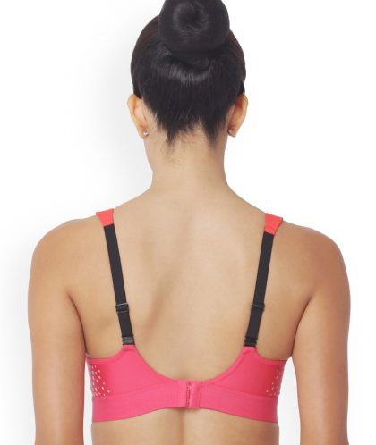 Triumph Triaction Solid Pink Non-Wired Lightly Padded Sports Bra
