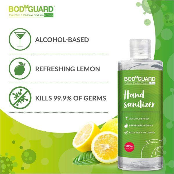 BodyGuard Alcohol Based Hand Sanitizer with Refreshing Lemon – 500 ml